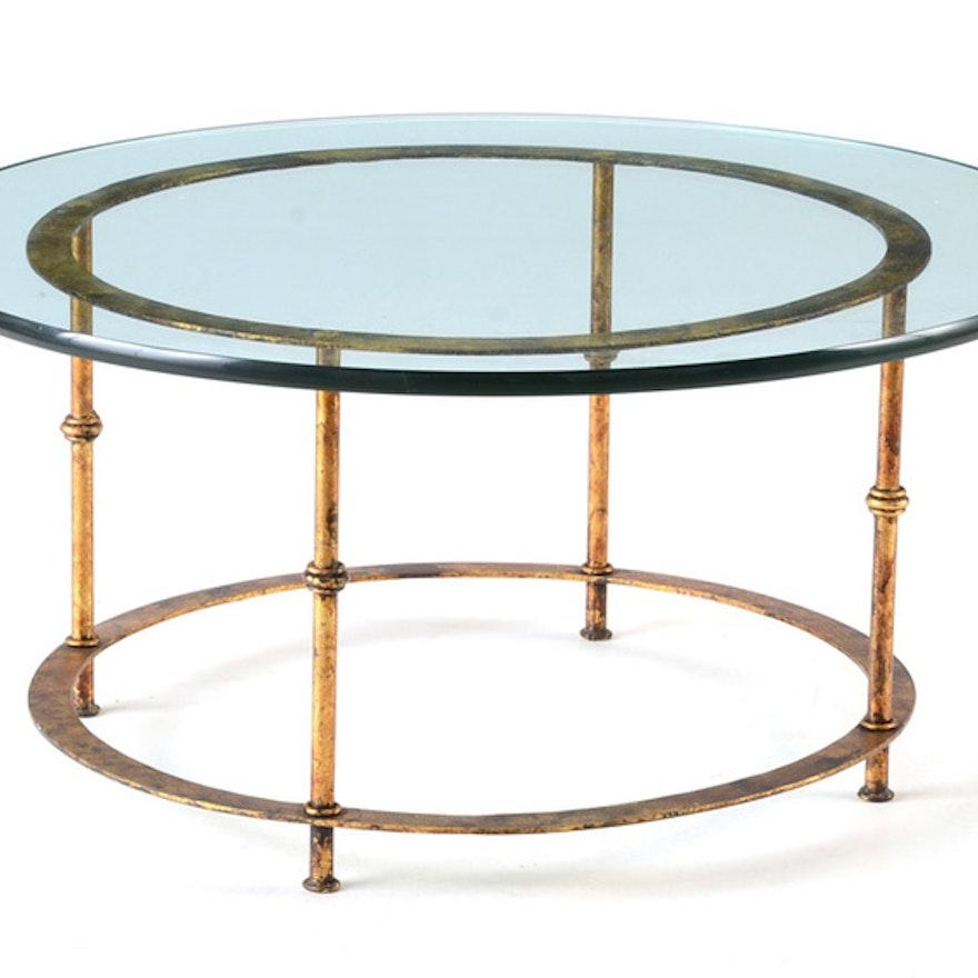 Circular Glass Top Coffee Table
