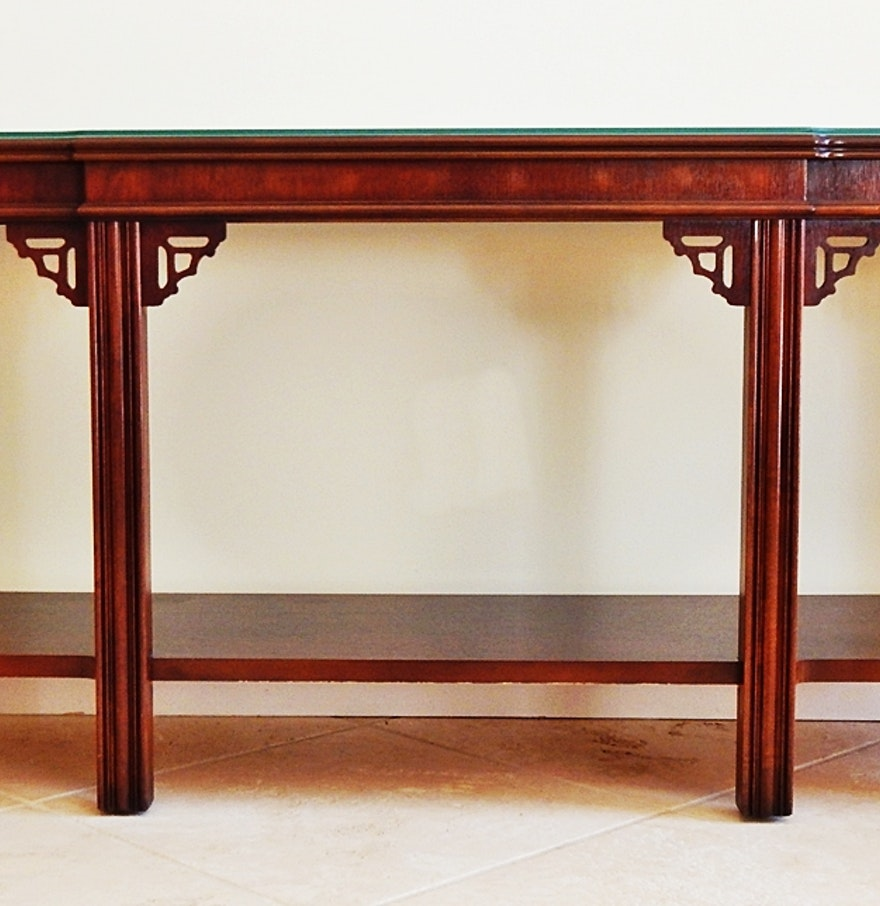 Vintage lane fretwork asian style sofa table ebth