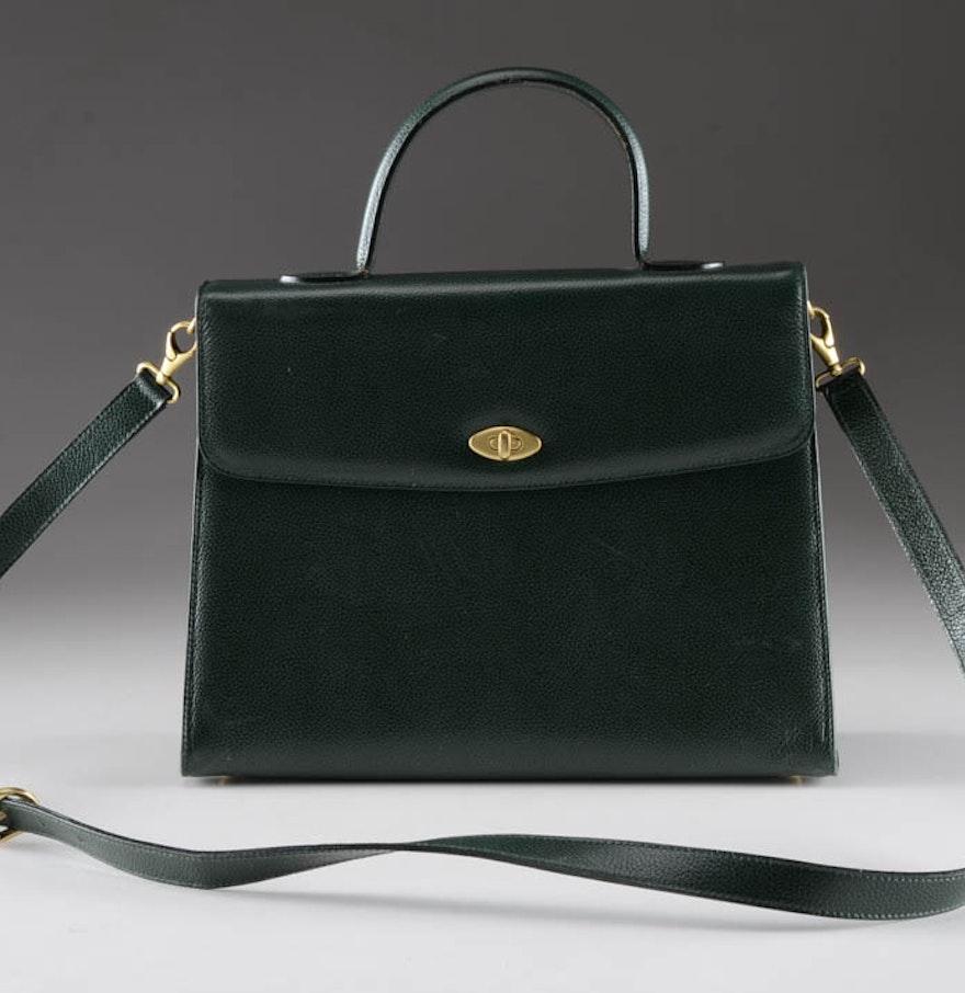 04b26f57d8e ... Vintage Coach Kelly HandShoulder Bag in Green Pebbled Leather .
