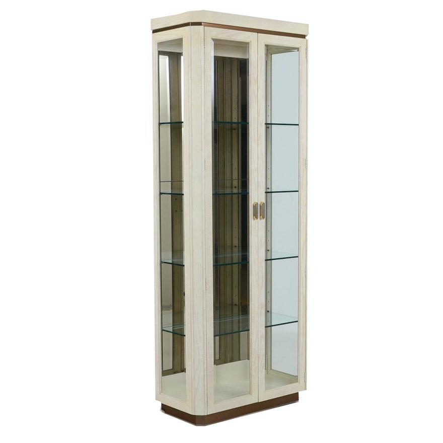 Henredon Contemporary Oak Display Cabinet