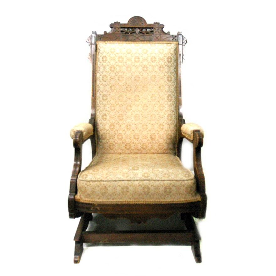 online store 9cb9b 4b91d Victorian Eastlake Rocking Chair