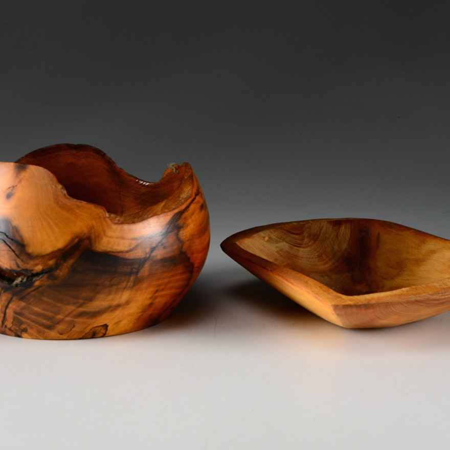 Hand Carved Wood Bowls