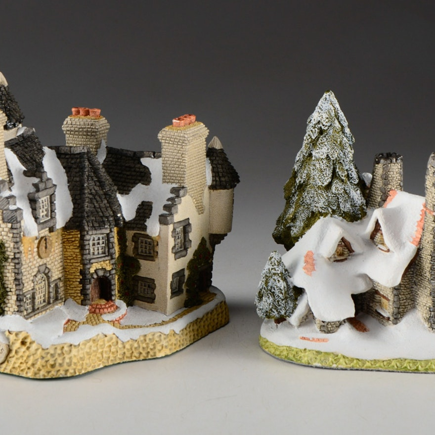 David Winter Winter Collection of Two House Figures