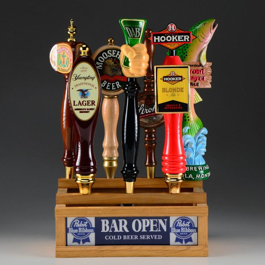 Custom Made Seven Beer Tap Back Bar Light