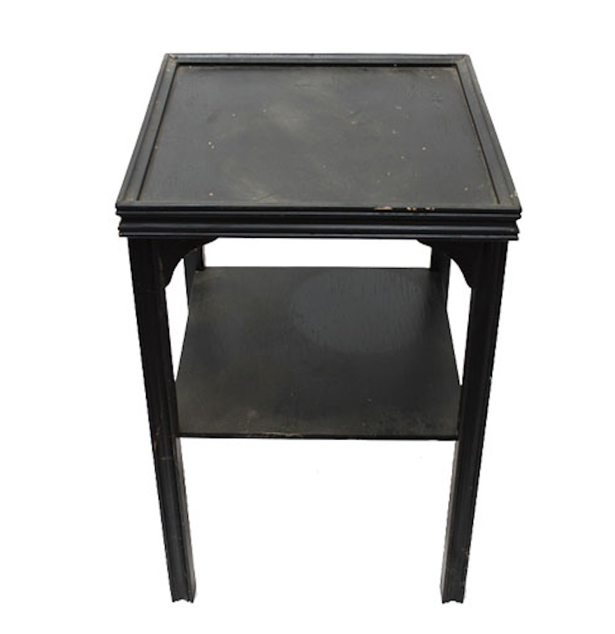 Black wooden end table ebth for Black wood end tables