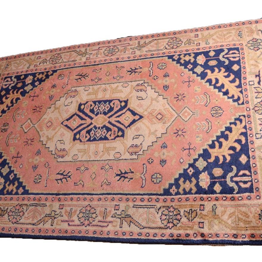 Handwoven Indian Tabriz Wool Rug