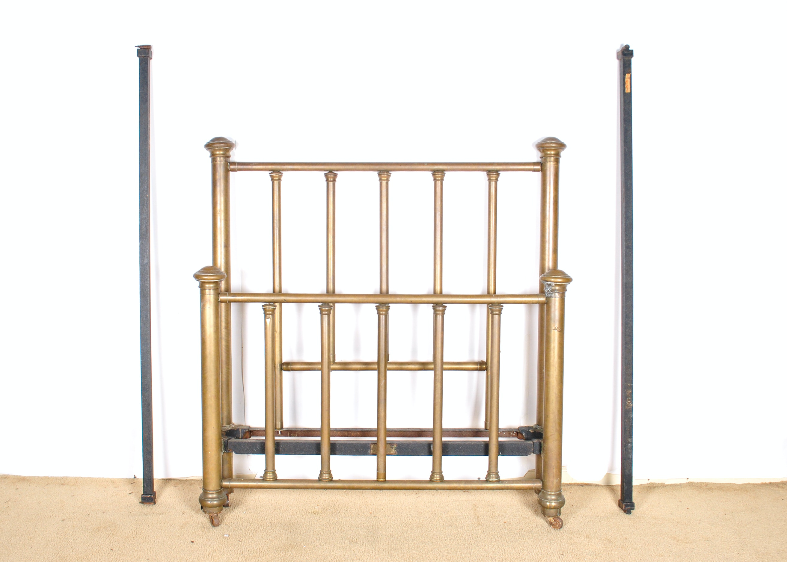 Antique Brass Twin Bed Frame Ebth
