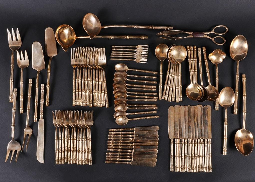 Well-known Extraordinary Thai Nickel Bronze Flatware Set Gallery - Best Image  NC81