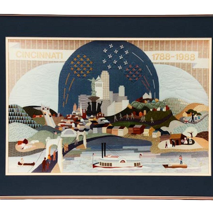 Giclee of Cincinnati Bicentennial Quilt