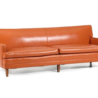 Burnt Orange Vinyl High Back Kitchen Chair