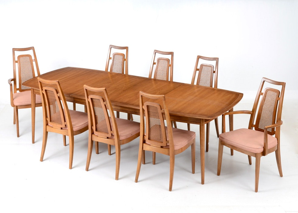 1962 Drexel Meridian Table And Chairs ...