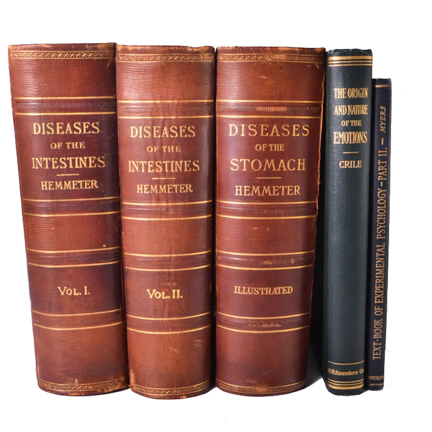 Early 1900s Psychology And Anatomy Texts Ebth