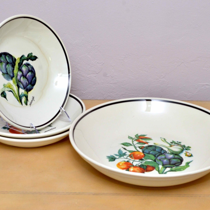 Set of Over and Back, Inc Pasta Bowls : EBTH