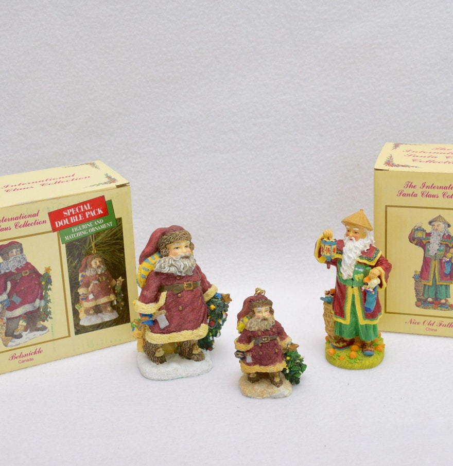 International santa claus collection holiday figurines ebth
