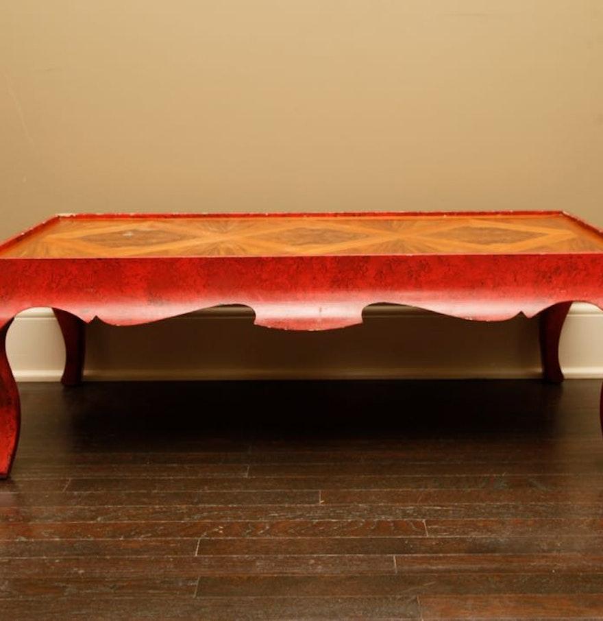 Vintage Wood Coffee Table By Baker Furniture Ebth