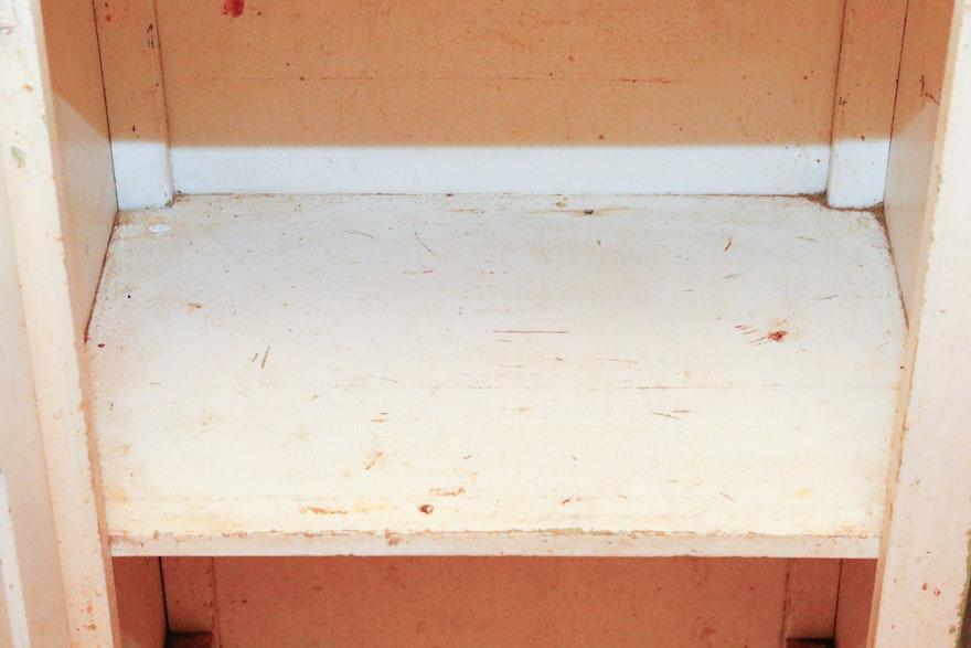 Vintage Hoosier Chimney Cupboard Ebth
