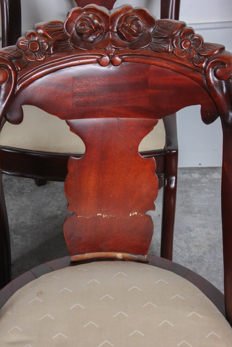 Set Of Eight Solid Cherry Carlton Mclendon Dining Chairs Ebth