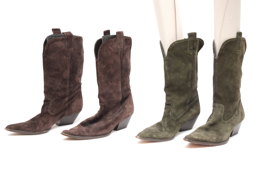 Michael Kors Cowboy Boot Style Mid-Calf