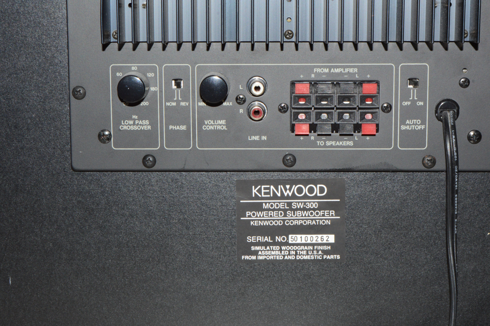 kenwood sw 300 powered subwolfer ebth Bose III Stereo System Discount Bose Stereo Systems