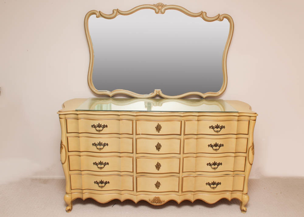 french provincial mirror provincial dresser with mirror ebth 1106