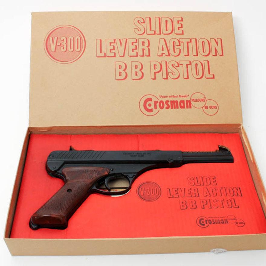 Vintage Crosman V-300 Slide Lever Action BB Pistol