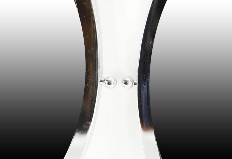 Pair of oval salon mirrors ebth for 3rd dimension salon