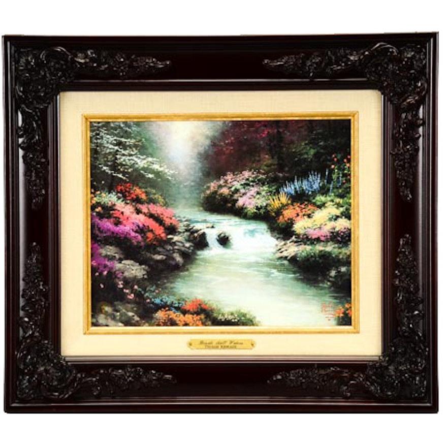 "Thomas Kinkade Print On Canvas ""Beside Still Waters"""