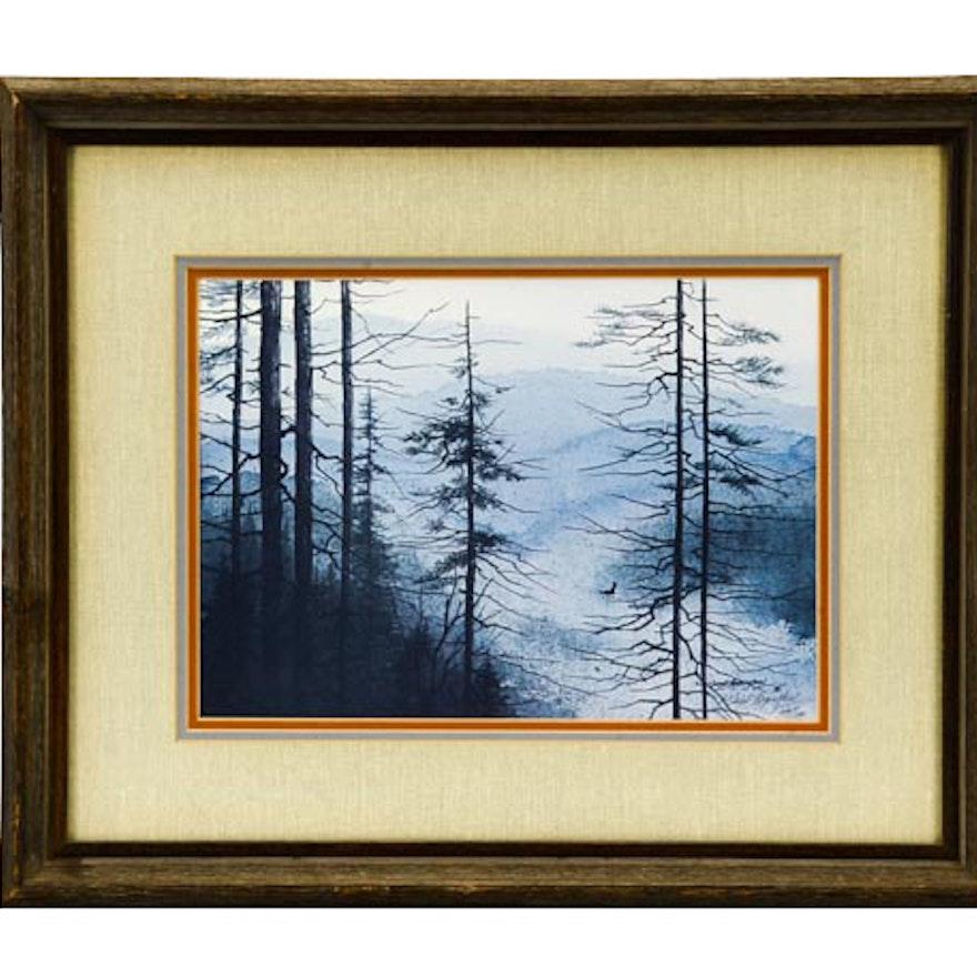 "Vern Hippensteal Print ""Misty Mountains"""