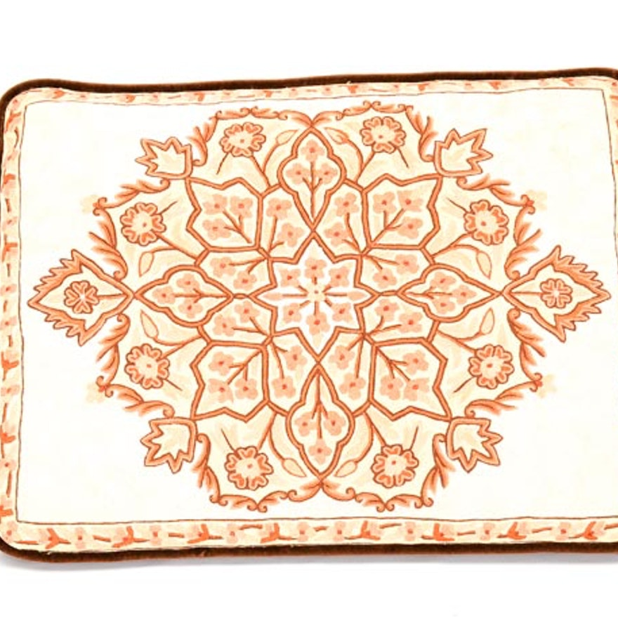 Rectangular Embroidered Pillow
