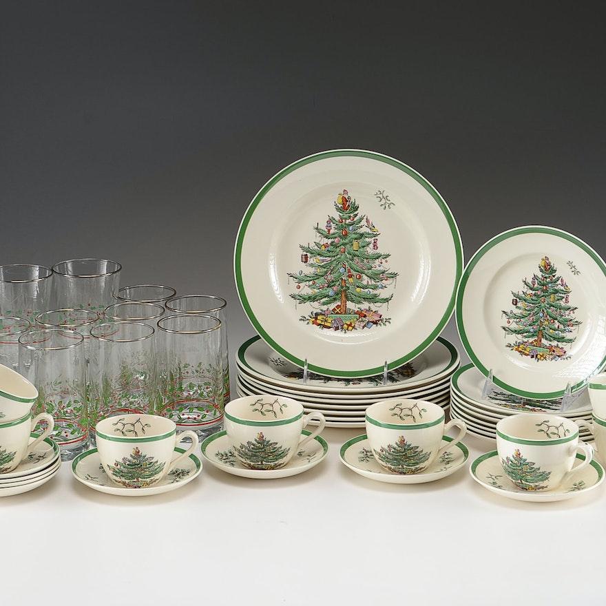 Spode Christmas China Set for Eight