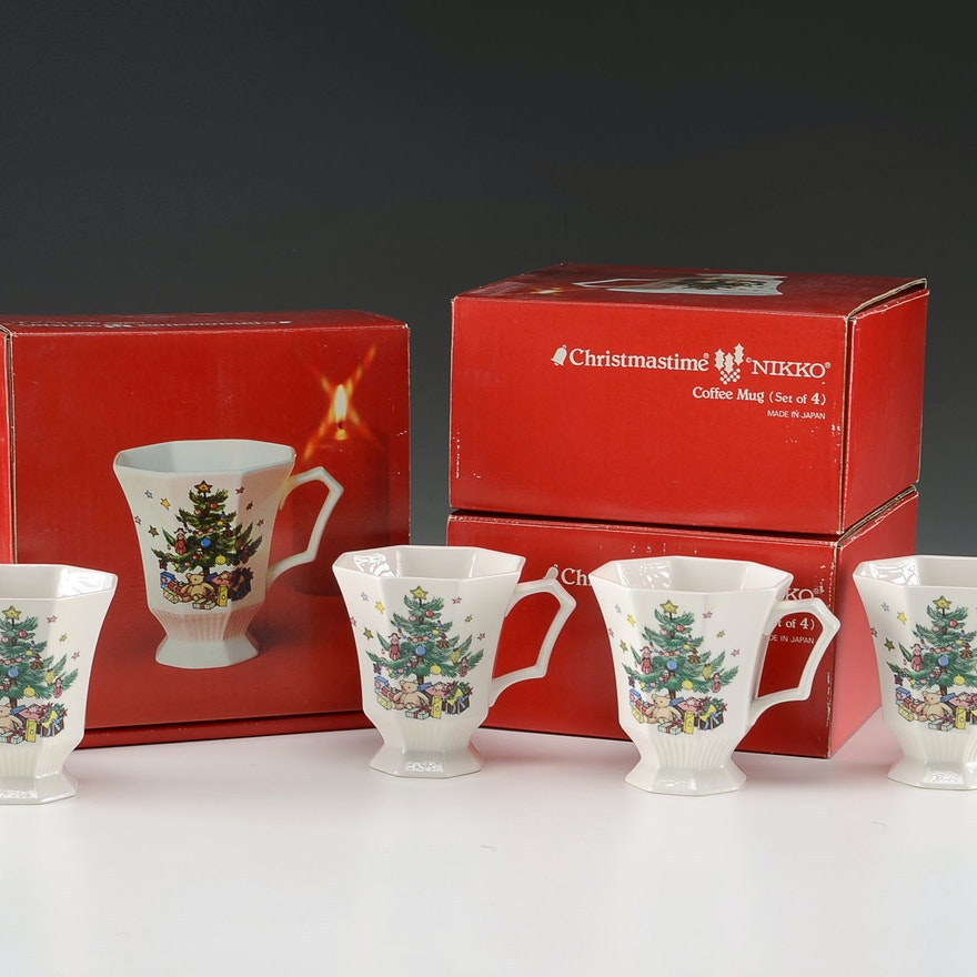 "Nikko ""Christmastime"" Coffee Mugs"