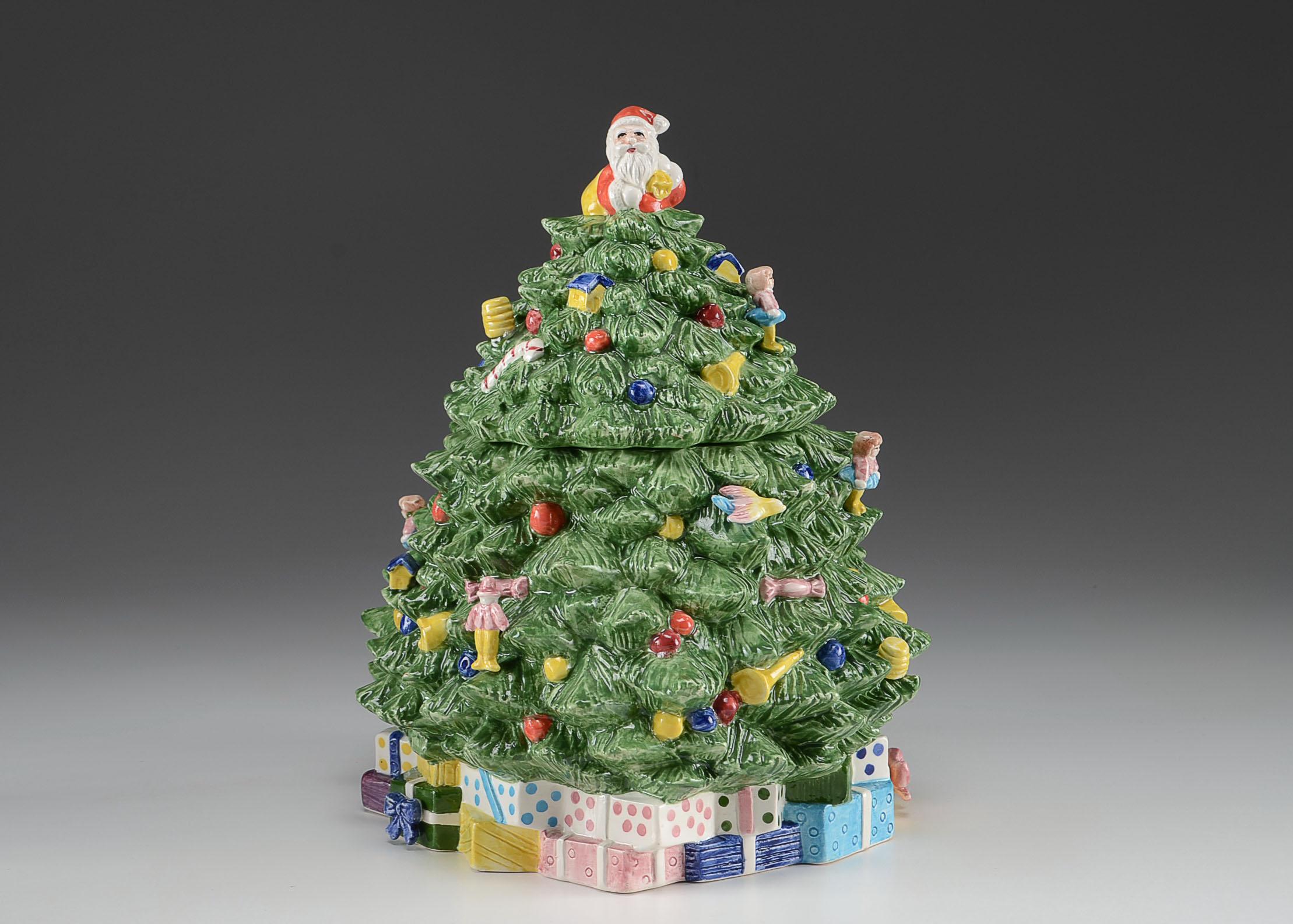 Ceramic Christmas Tree Cookie Jar : EBTH