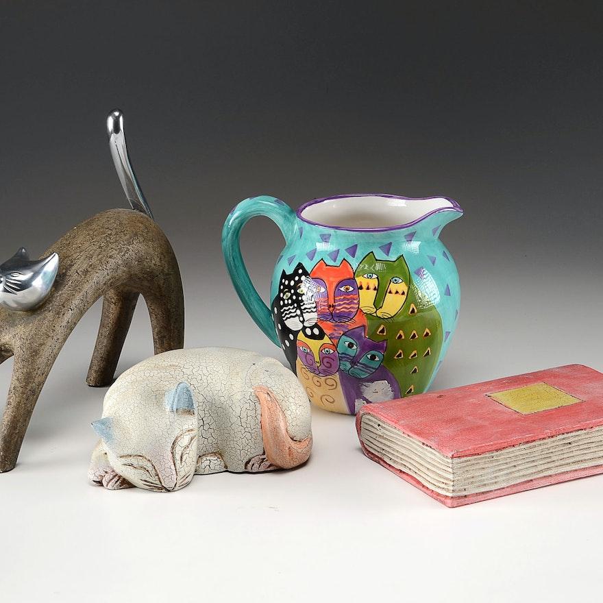 Three Cat Themed Decorative Items