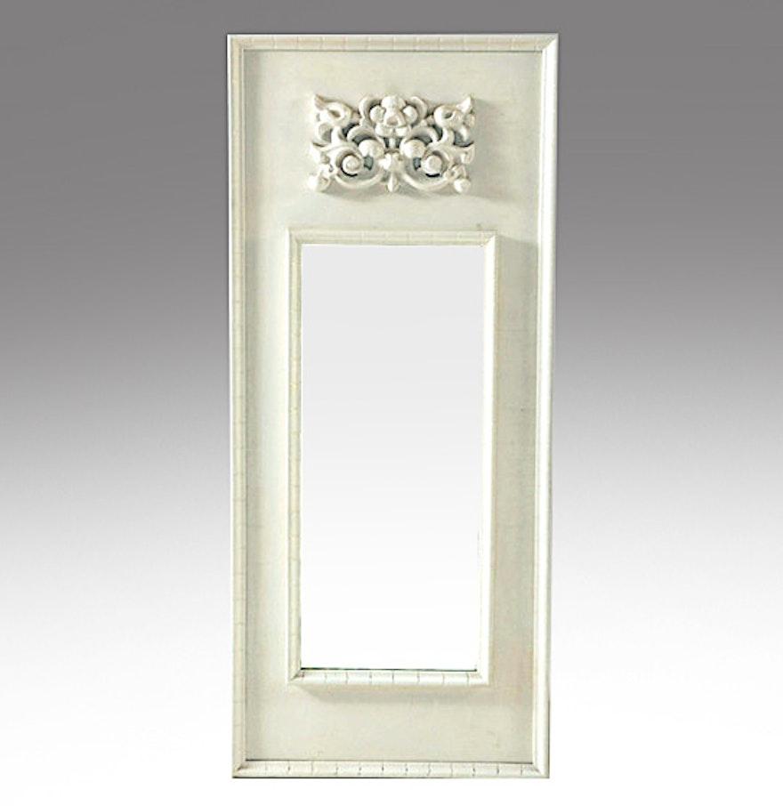Complement decorative accessories white mirror ebth for White decorative mirror
