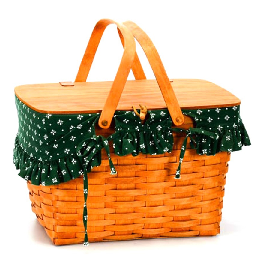 Longaberger Handwoven Picnic Basket