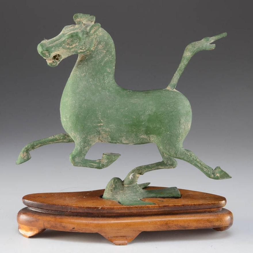 Cast Metal Equine Statuette