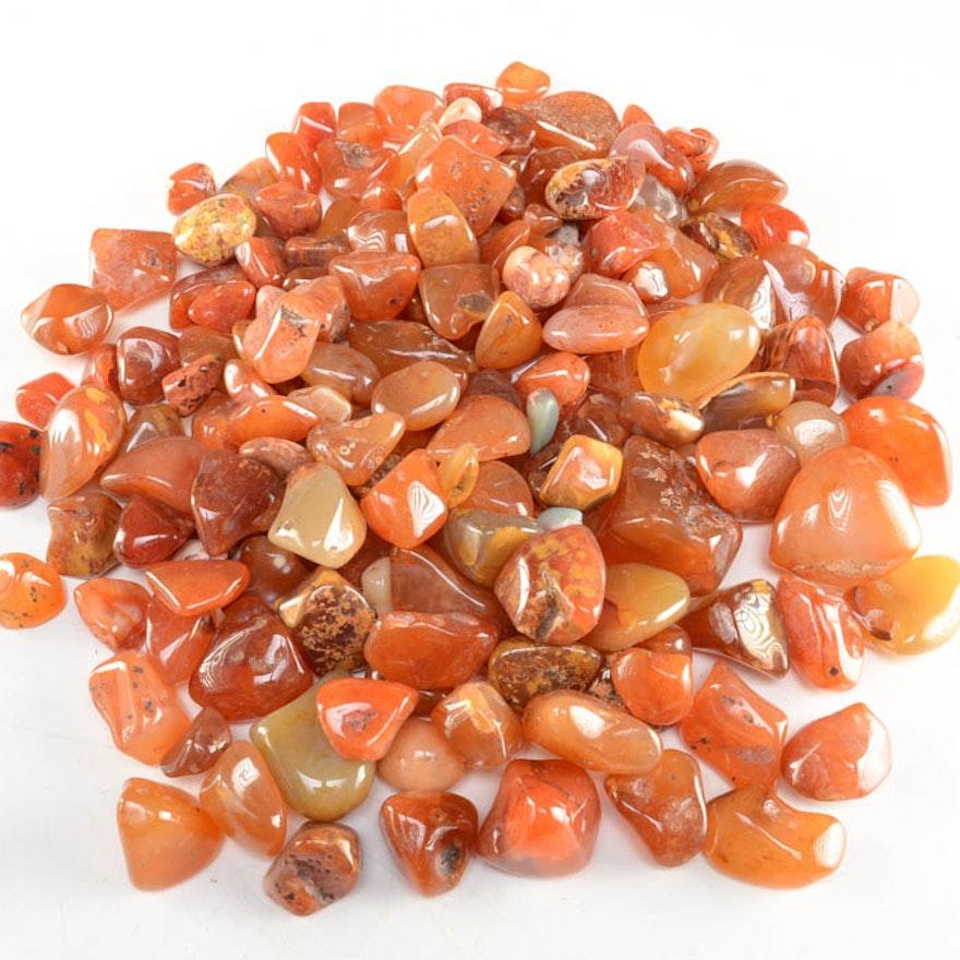 Polished Tumbled Carnelian Agate