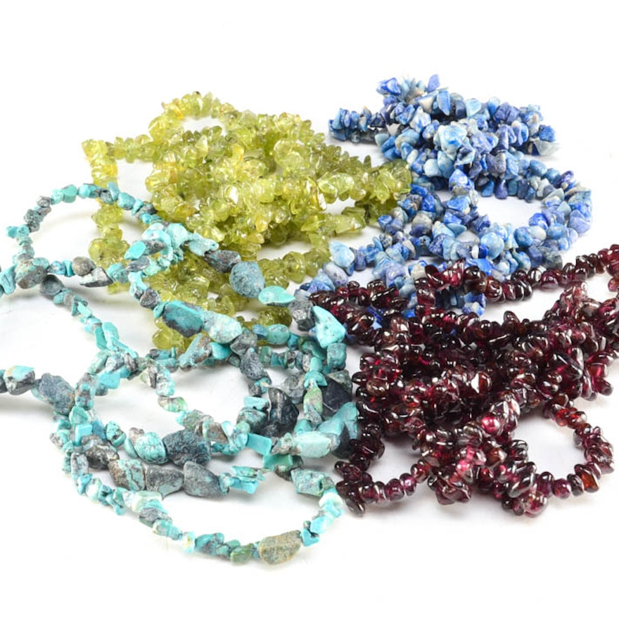 Assorted Stone Bead Necklaces