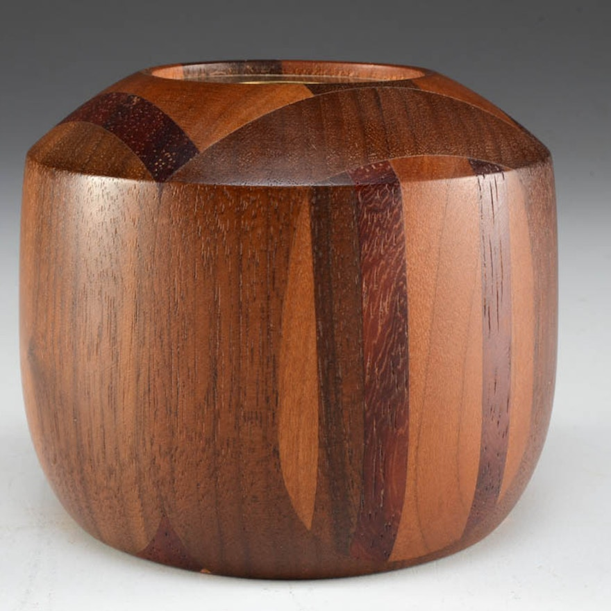 D. Collier 1998 Hand Turned Wood Kaleidoscope