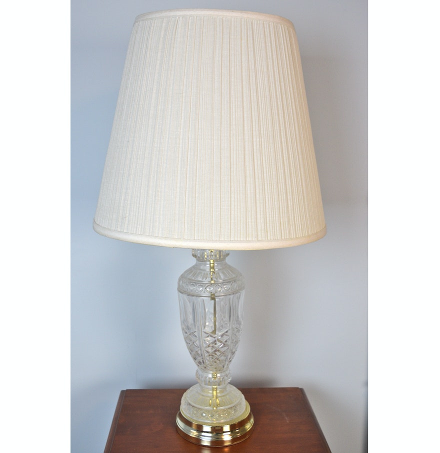 Pottery barn clift glass lamp ebay - Netted Glass Table Lamp