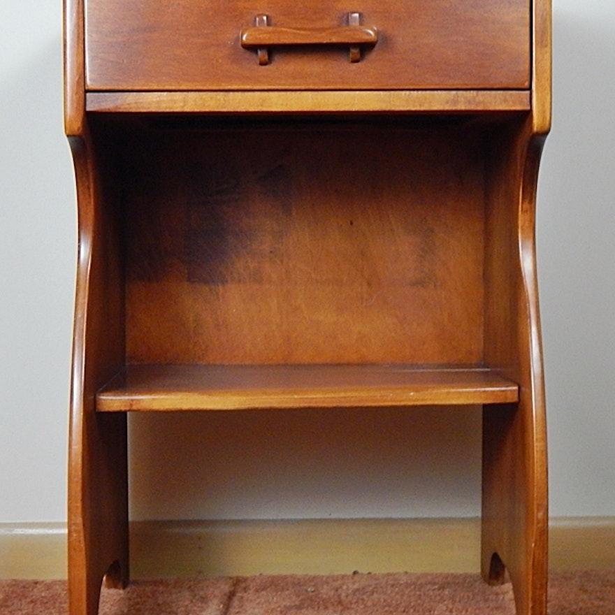 Vintage Cushman Colonial Creations Maple Nightstand Ebth
