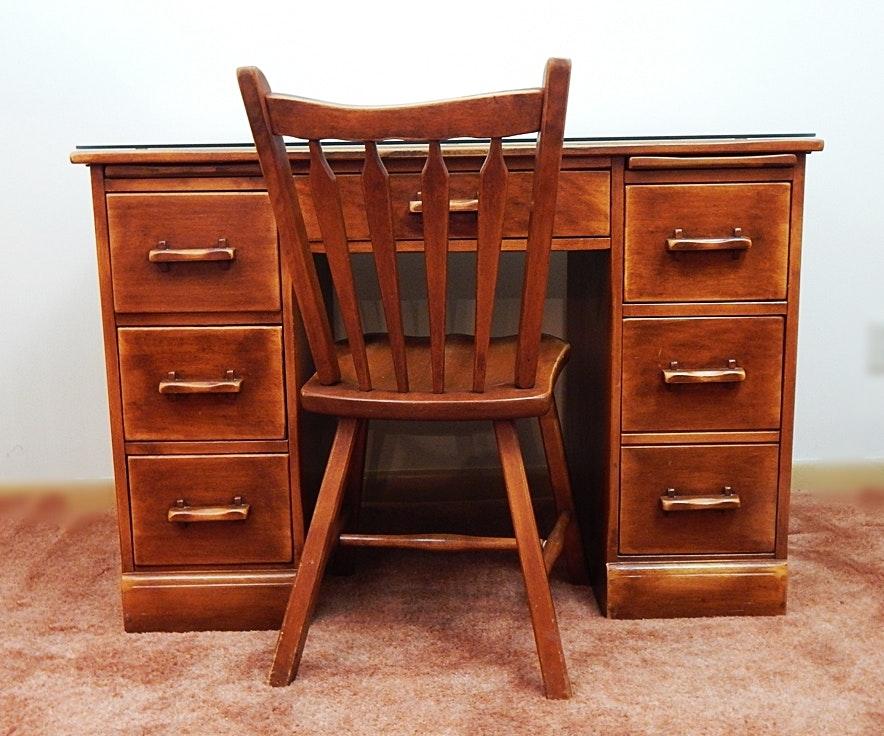 Vintage Cushman Colonial Creations Maple Desk 1930s ...