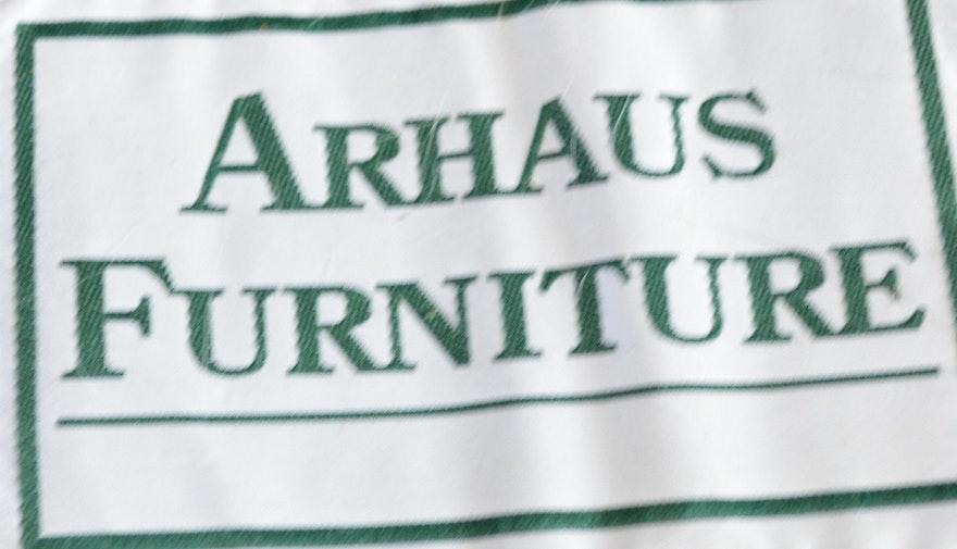 Arhaus Brentwood Tiger Mahogany Leather Sofa Ebth