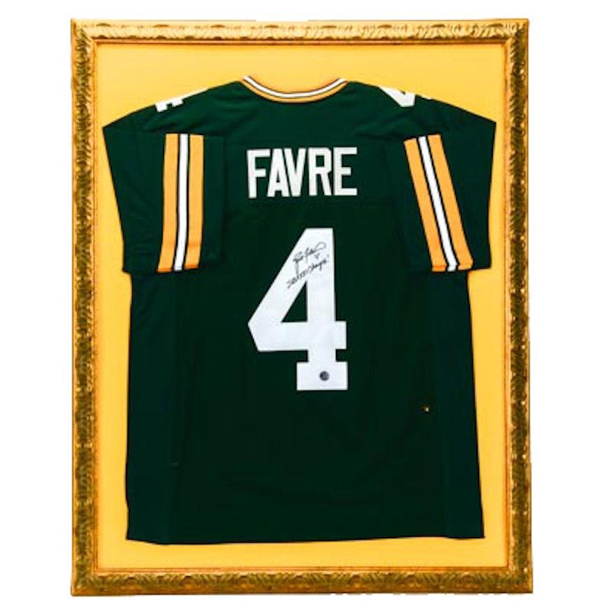 Brett Favre Framed Signed Jersey Coa Ebth