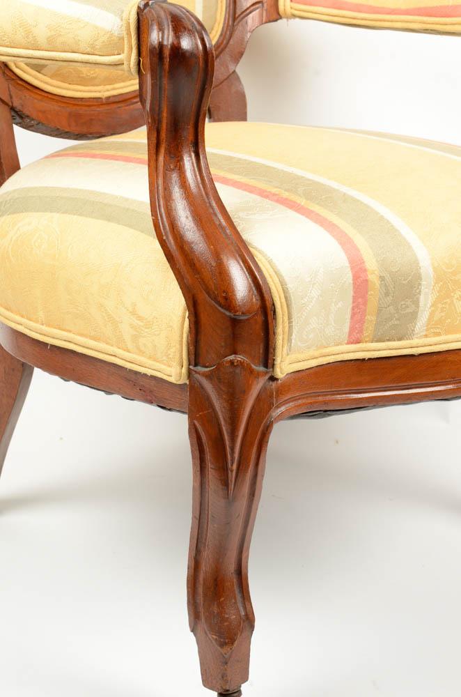 Upholstered Victorian Armchair : EBTH