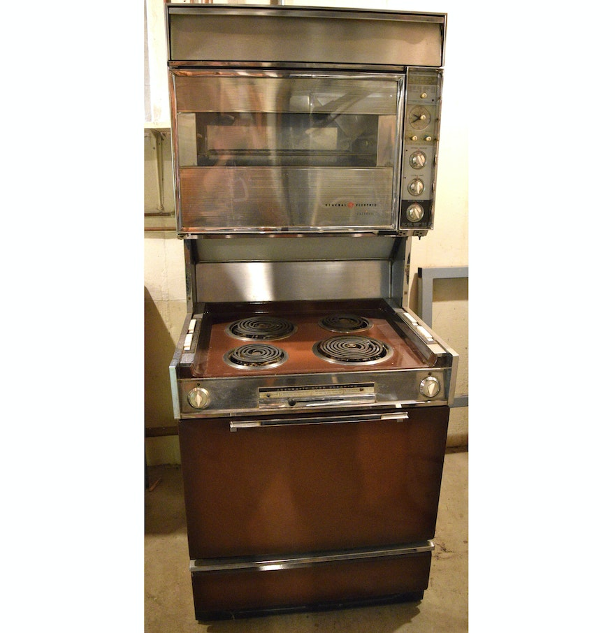 Old Electric Oven ~ Vintage general electric double oven and range ebth