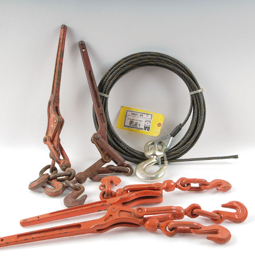 Metal Lever Arms : Hoist lever arms and steel cable ebth