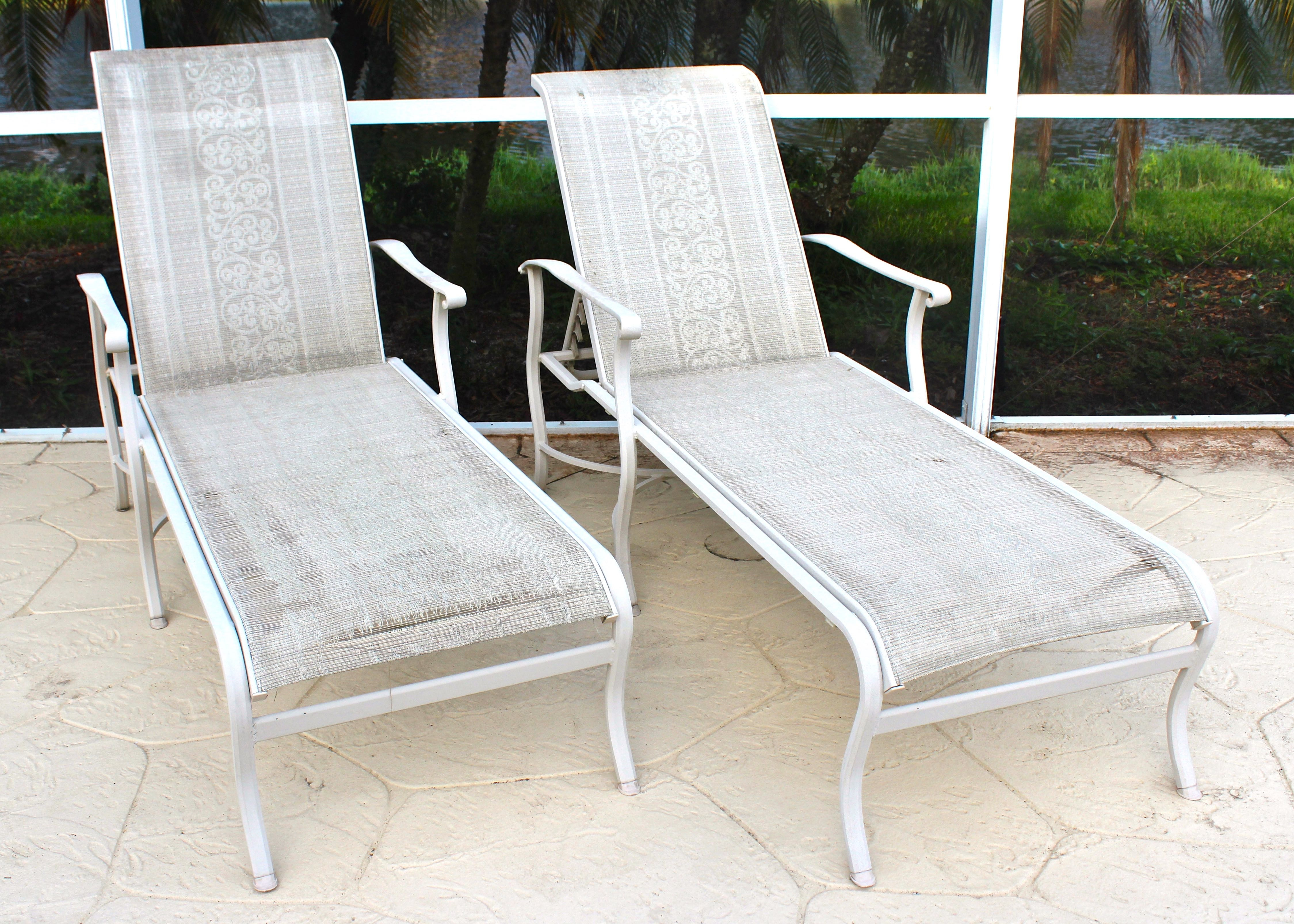 Pair Of Carter Grandle Chaise Lounges ...