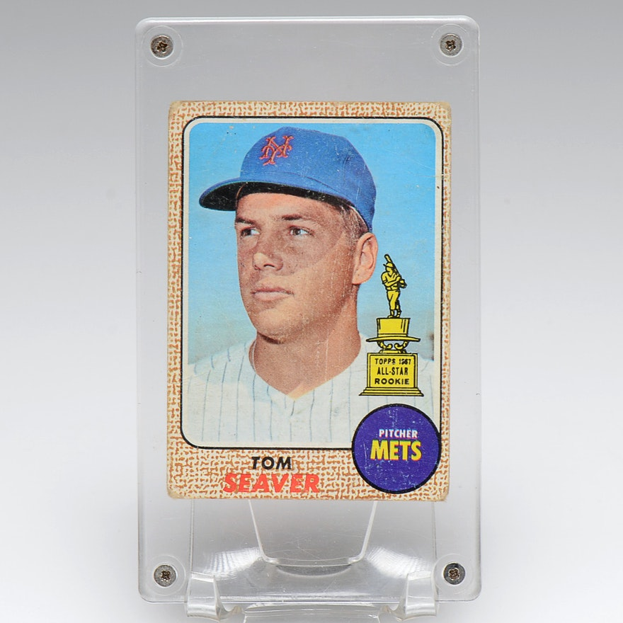 1968 Tom Seaver New York Mets Topps Baseball Card