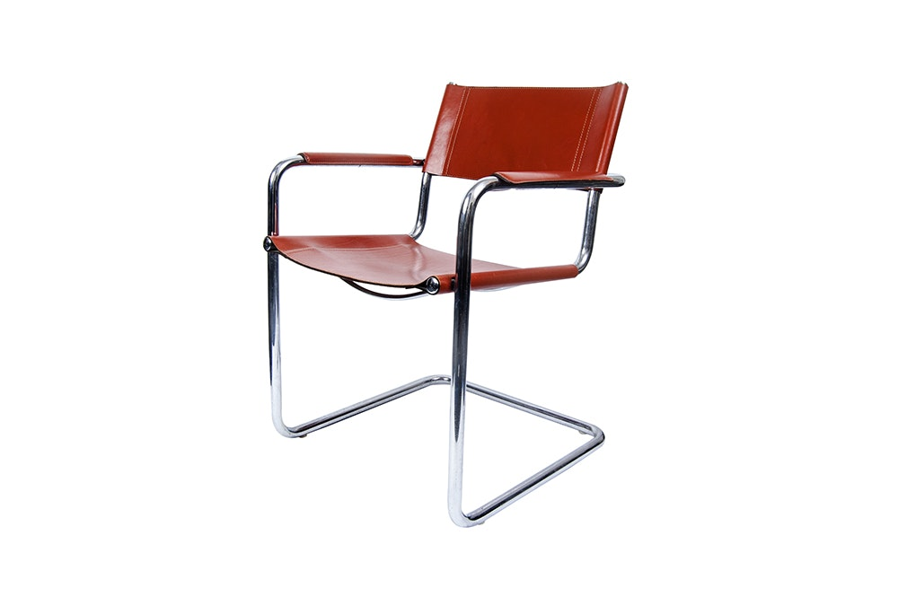 Matteograssi Chrome And Leather MG5 Dining Chair ...
